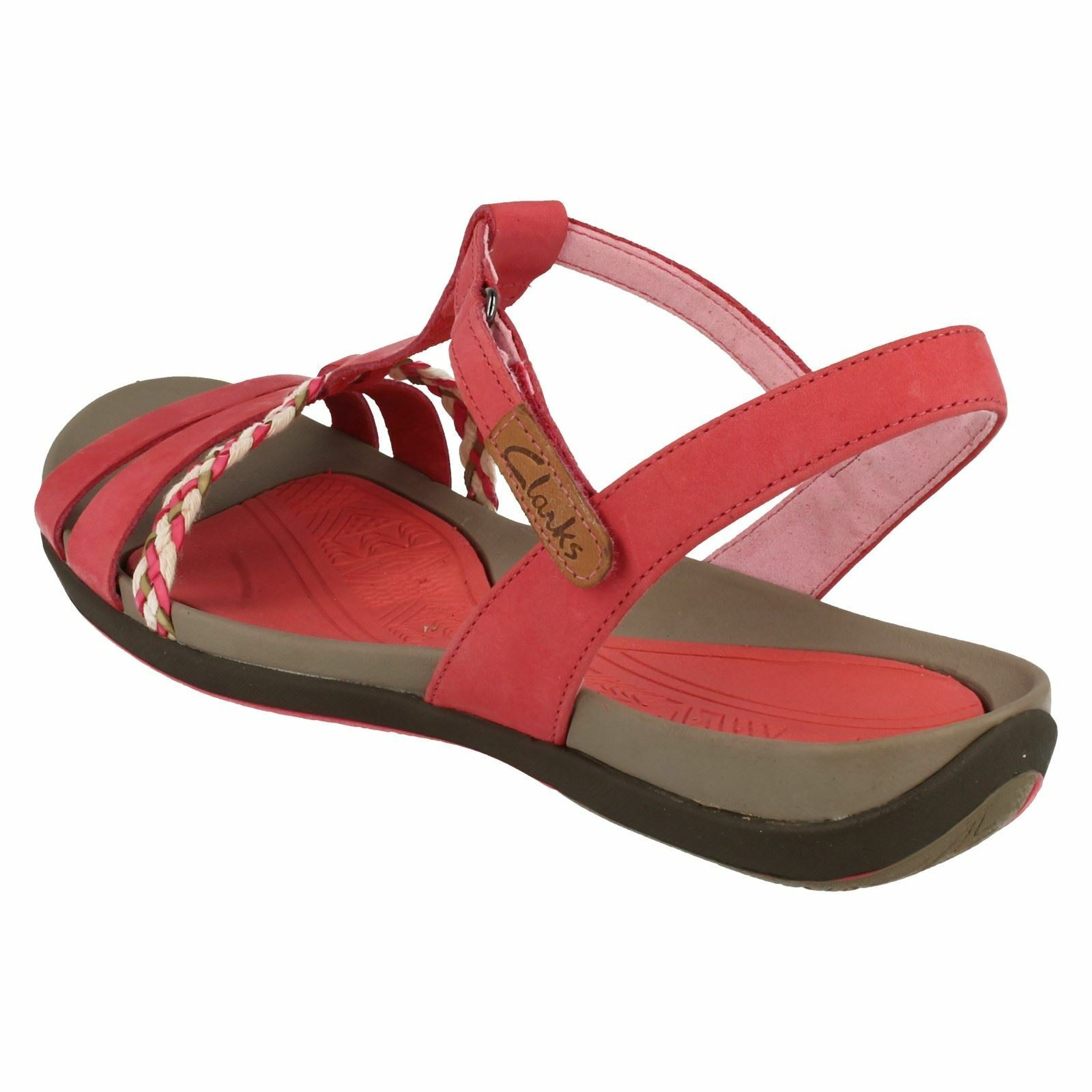 ladies CLARKS TEALITE D GRACE womens SANDALS size 3 D TEALITE new red a177a1