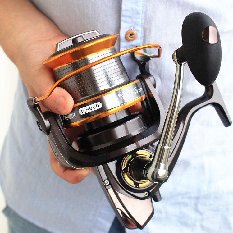 Large Size Long Shot Spinning Fishing Reel 13BB Saltwater Sea Fishing Reels
