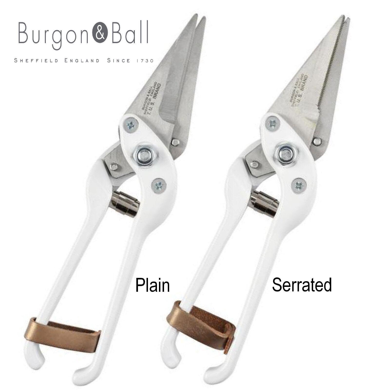 Burgon & Ball Footred Heavy Duty Foot Shears - Plain or Serrated