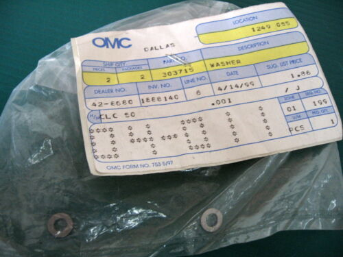 OMC Johnson Evinrude outboard 303715 Washer New Oem