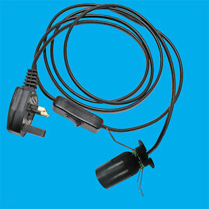 Pleasant E27 Black Light Bulb Socket Switched Es Lamp Holder Recess Shade Wiring Cloud Hisonuggs Outletorg