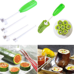 Details about Fruit Vegetable Corer Spiral Digging Vege Drill Spiralizer  Cutter Kitchen Tools