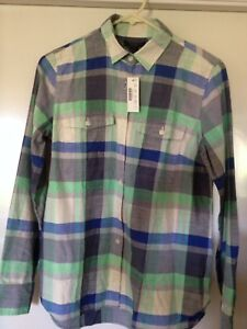 Image is loading Women-039-s-Long-Sleeve-Plaid-Shirt-from- f5200fc68