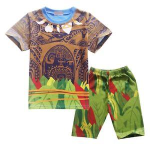 Fiable Simile Maui Vaiana Set Maglia Pantaloncini Oceania Set T-shirt Pants Mauiset01