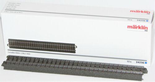 10 Stück Märklin H0 24236-S C-Gleis gerade 236,1 mm - NEU OVP