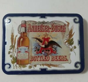Vintage Anheuser Busch Playing Cards Budweiser 1988 Two Decks in Tin Box