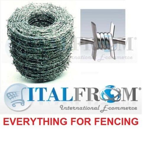 500mt galvanisé fil barbelé clôtures grillagées WIRE 1.8mm