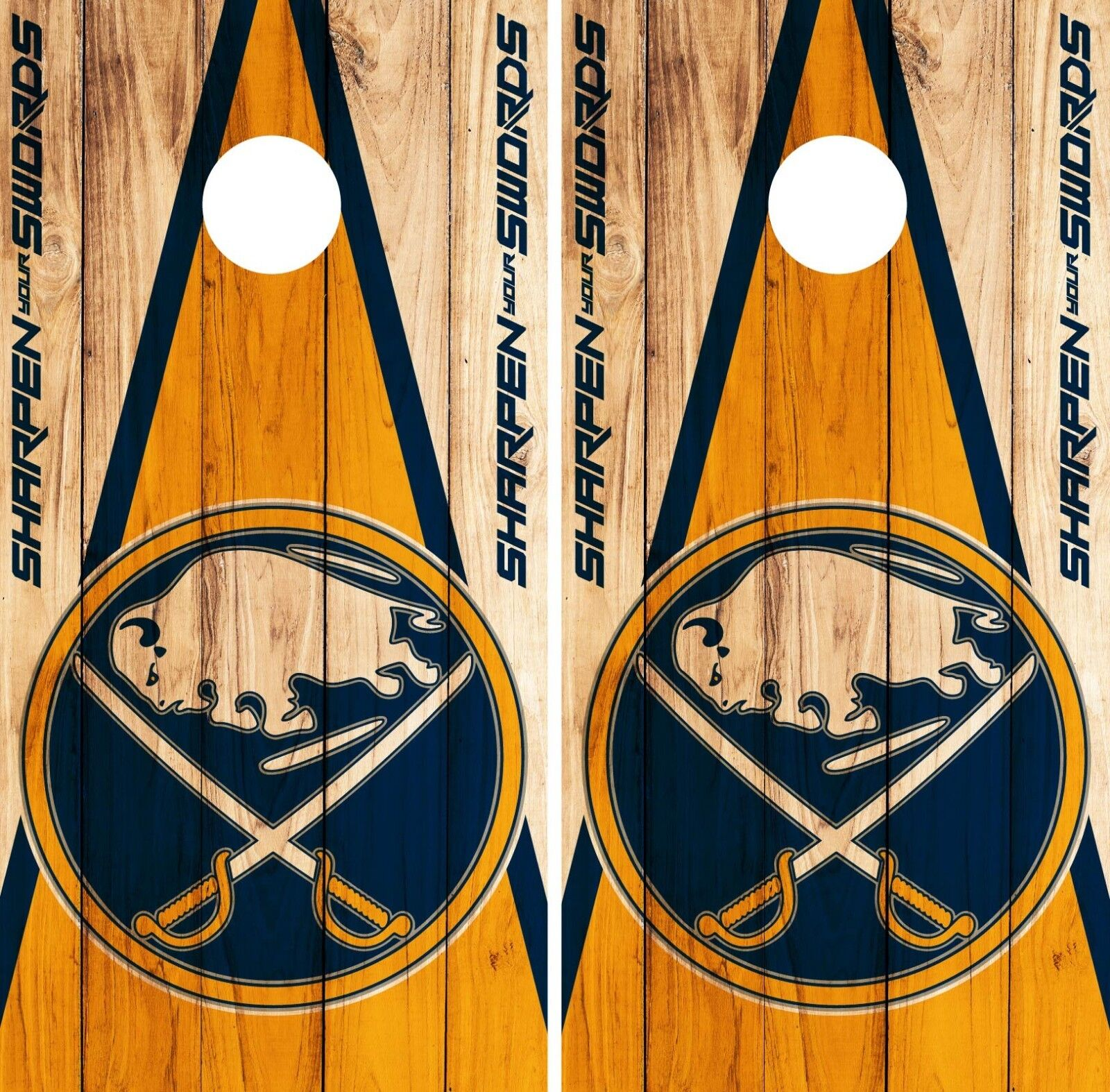 Buffalo Sabres Cornhole Wrap NHL Game Board Skin Set Vinyl Decal Decor CO284