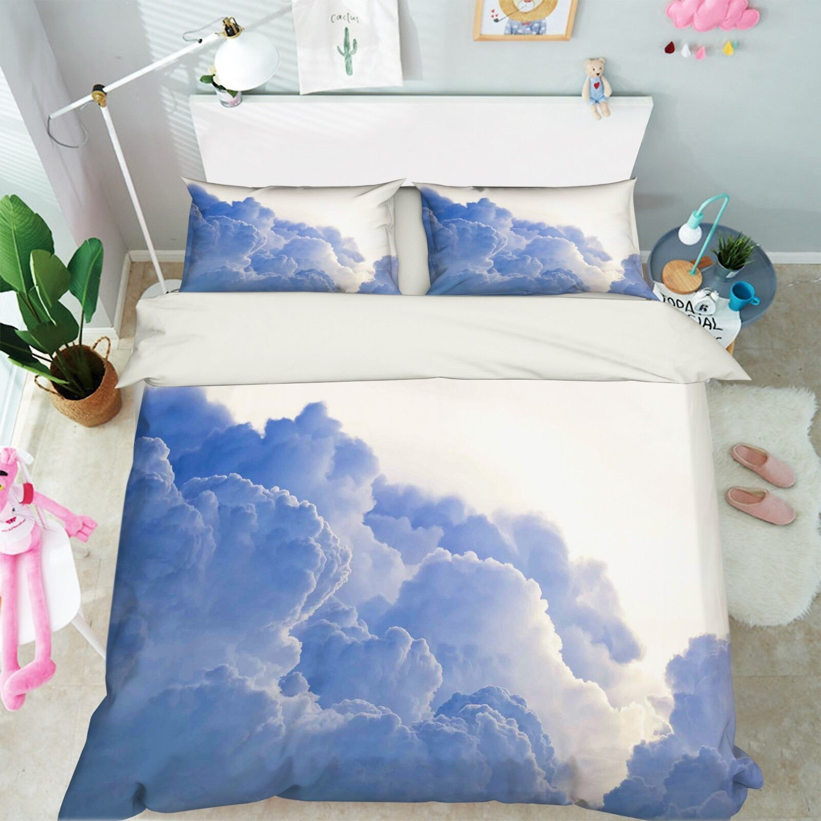 3D Sky Cloud Sun 67  Bed Pillowcases Quilt Duvet Cover Set Single King UK Summer