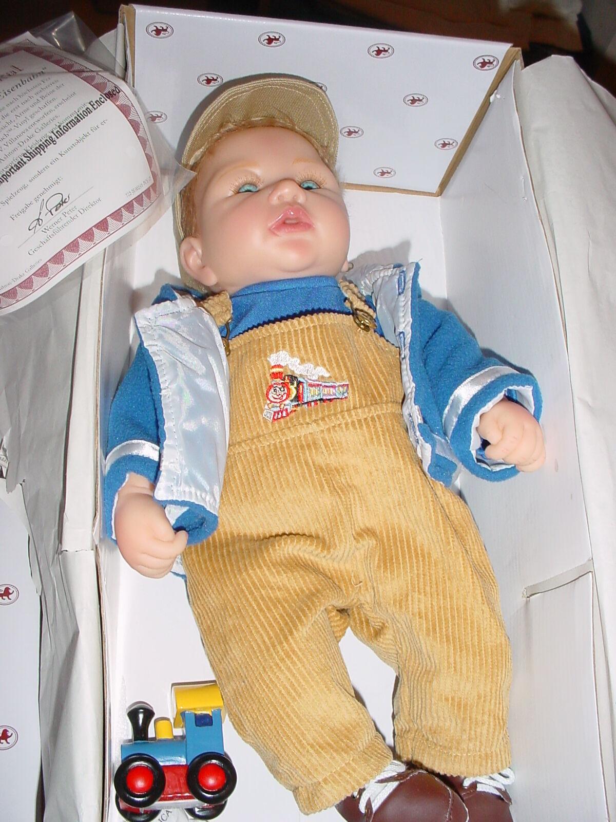 Kevin schöne Puppe wie neu aus Sammlung Bradford Künstlerin Maribel V. Villanova