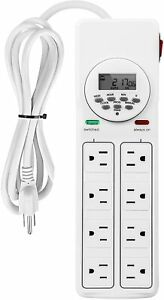 iPower-8-Outlet-Power-Strip-with-7-Day-Digital-Timer-Surge-Protector