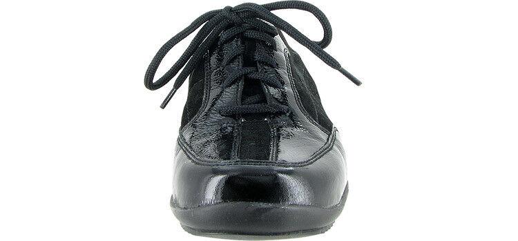 Waldlaufer Haisha Black Suede Patent Laced shoes 6.5 6.5 6.5 f0bdbb