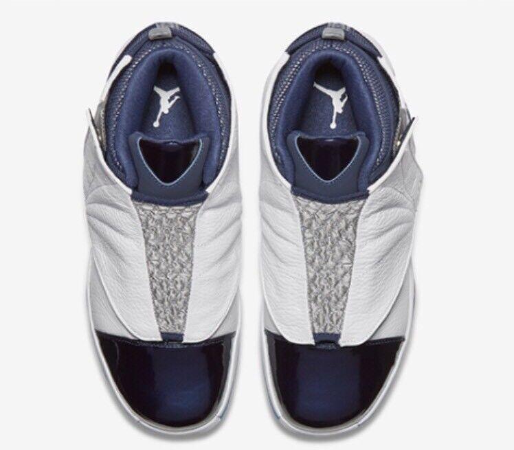 nike air jordan 16 xvi retro 683075-106 - weiße mitternacht marine 683075-106 retro basketball - schuhe 8,5 91a7b1