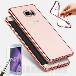 Coque-Housse-SAMSUNG-Galaxy-A3-5-7-Effet-metallique-Protection-VERRE-TREMPE