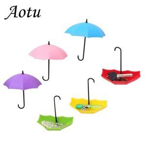 Creative-Umbrella-Model-Wall-Hooks-Rust-Hangers-Home-Organization-Household