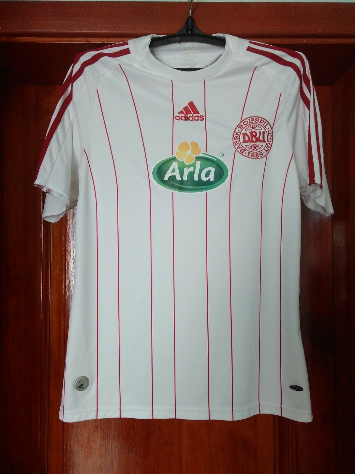 Denmark national team 2009 - 2010 away football shirt jersey Adidas size S Small