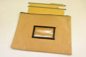 Canvas-Steam-Leather-Look-Tan-CASE-BAG-Storage-Toiletries-Papers-Laundry-Odd-FK