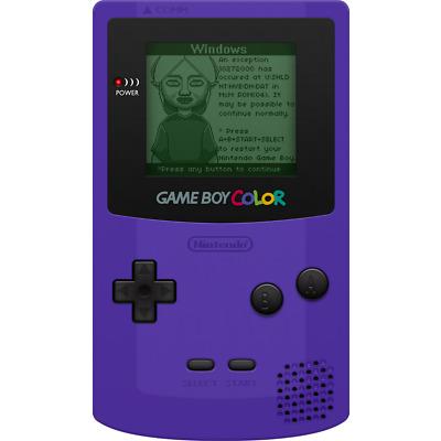Nintendo Game Boy Color Grape Purple Handheld System - Very Good Condition