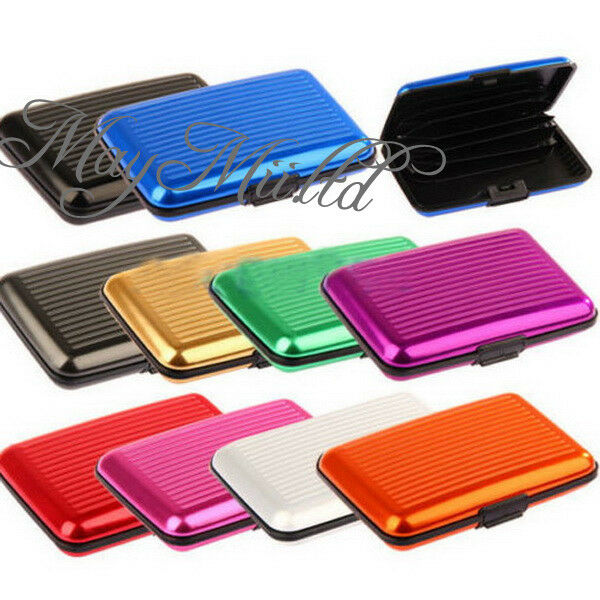 Metal Aluminium Business Id Credit Card Wallet Holder Pocket Case Box Sales O