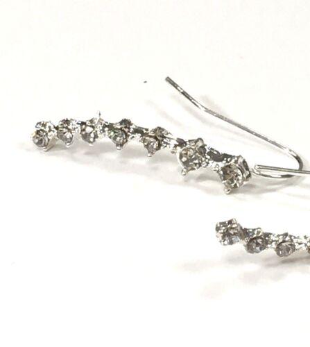 Cristal Pendientes de plata plateado Rhinestone de Moda para Damas único de gancho