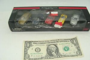 5-Car-Set-Malibu-International-Model-Collections-1-87-Porsche-Corvette-Mercedes