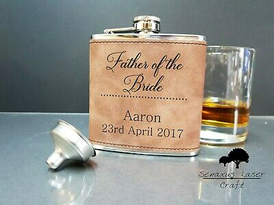 hf504 Groomsman Personalised Engraved Wedding Hip Flask
