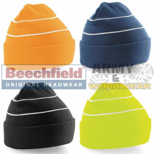 Beechfield Enhanced Viz Bonnet Running Jogging Cyclisme Réfléchissant Vis Homme