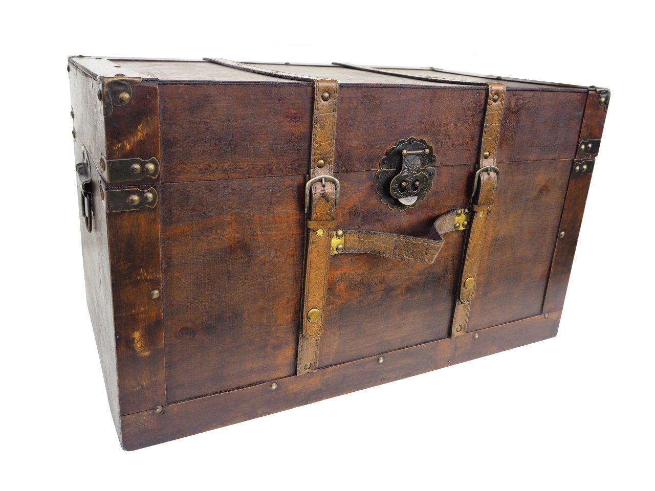 SCHATZKISTE SCHATZTRUHE KISTE TRUHE HOLZ KASTEN BOX       NEU     60 x 35 x 35cm 033b22
