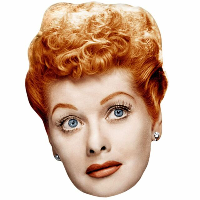 Lucille Ball Celebrity Mask, Card Face and Fancy Dress Mask