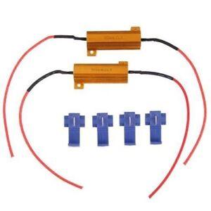 2-x-Resistencias-Intermitentes-LED-Flash-50W-6ohm-4-abrazaderas-C4M5