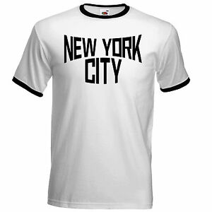New York City Ringer T Shirt John as worn by Lennon classic retro  adee648dda5