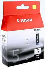 Genuine Canon PGI-5BK Ink Cartridge Pixma iP4200 iP5200 iP5200R iP5300 iP4500