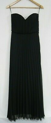 Jane Norman Womens Dress Maxi Sweetheart Strapless Evening Pleated Black Size 10 | eBay