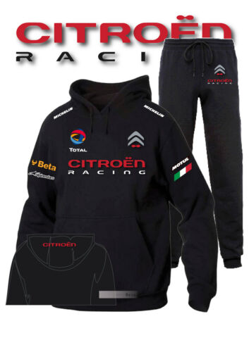 Tuta Felpa Hoodie Printed Citroen Racing ELF Francia Auto Moto Sport Italia C Bn