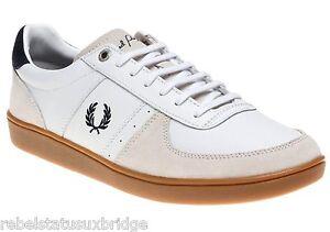 Trainer Fred White Unisex 11 Trentham Leather 6 Suede B4227 Størrelser Uk Perry Sko rxxSw8tf