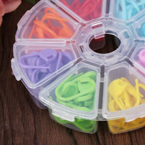 104pcs-kit-Knitting-Crochet-Locking-Stitch-Needle-Clip-Markers-Holder-Tool-Newly