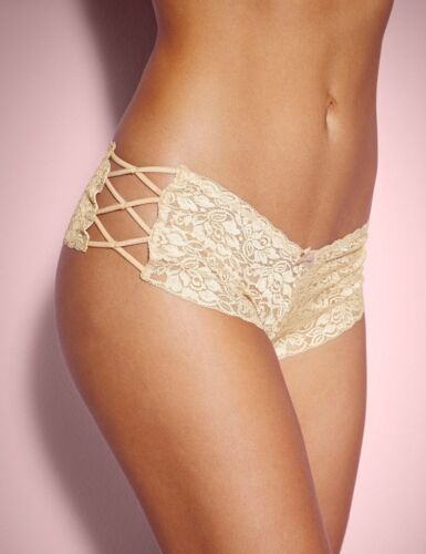 Ladies Strappy Lace Panties Briefs Knickers Lingerie Underwear Shorts Size 10-18