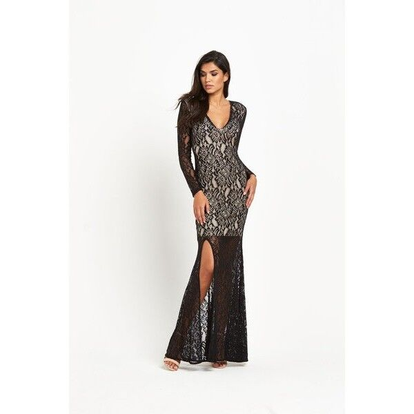BNWT FOREVER UNIQUE KELSIE LACE MAXI DRESS BALLGOWN SIZE 10 TALL RRP