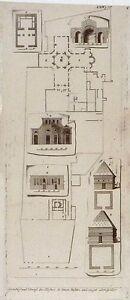 Antique-print-Klosters-St-Simon-Stylites