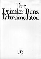 Daimler Benz Fahrsimulator Prospekt 3/85 brochure 1985 Auto PKWs Deutschland