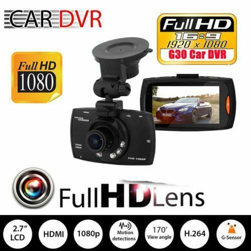 "2.3/"" 720P Car DVR Camera Video Recorder Dash Camcorder IR Night Vision G-Sensor"