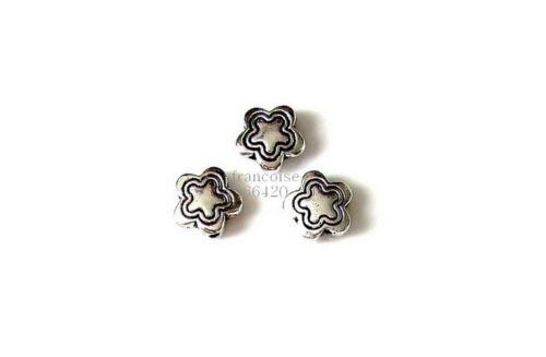 6 Intercalaires spacer Fleur arg 11x11x4mm Perles apprêts création bijoux /_ A345