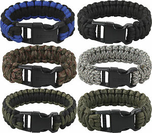 Image is loading Deluxe-Survival-Paracord-Cobra-Bracelet-w-Buckle 44a4ebaa3aa