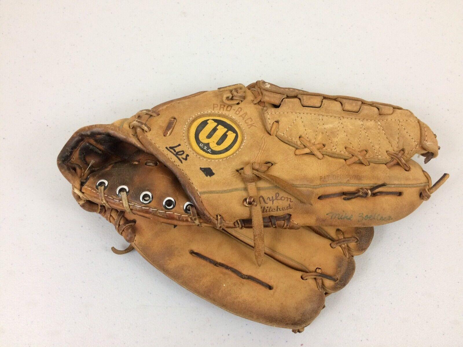 Vintage Wilson A2000 XLC Doble Bisagra RHT Guante de béisbol hecho en EE. UU. Raro 11