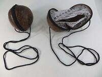 Wholesale 6 Pieces Coconut Shell Bags, Coconut Zippered Shoulder Bag