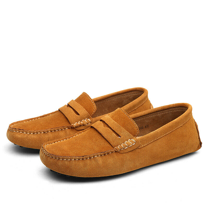 Mens Suede Slip On Flats Casual formal Driving Moccasins Loafer zapatos plus sz