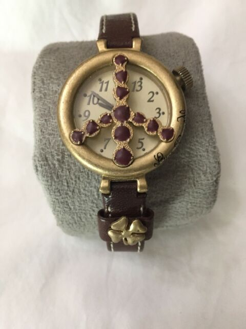 Lucky Brand Luck,Peace& Love Womens Watch Black Leather | eBay |Lucky Brand Peace Watch