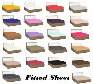 Fitted-Sheet-1000-Thread-Count-Egyptian-Cotton-RV-Bunk-42-034-X80-034-With-18-034-pocket