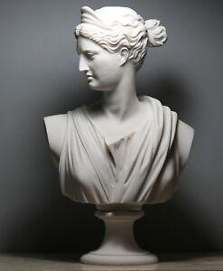 artemis statue huntress image is loading artemisdianabustheadgreekromangoddessstatue artemis diana bust head greek roman goddess statue sculpture cast