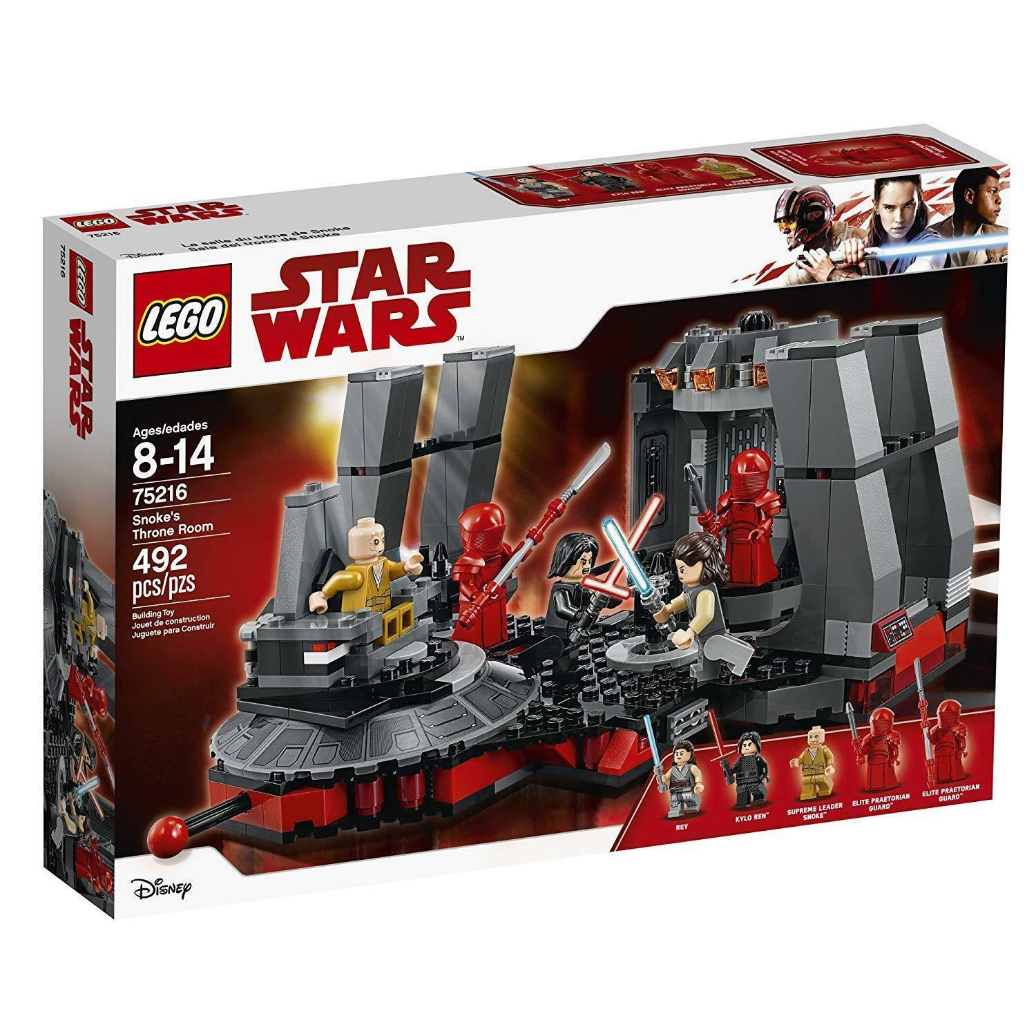 LEGO STAR WARS / SNOKE'S THRONE ROOM 492 PIECES / 75216 NEW FACTORY SEALED